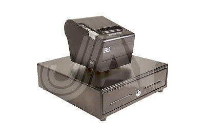POS SYSTEM-USE OWN PC+COMBO PKG+CASH DRAWER 13x13½ +PRINTER 80mm Logo USB Win 10
