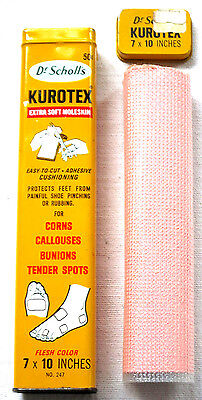 Vintage - Dr Scholl's - Kurotex Tin - Extra Soft Moleskin Included - 1959 - USA