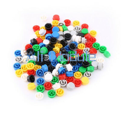 140PCS Round Tactile Button Cap Kits 9.58×5.1mm for 12×12×7.3mm Tact Switch NEW