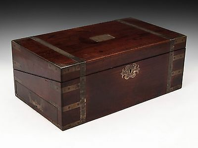 Georgian Antique Military Campaign Writing Stationery Slope box