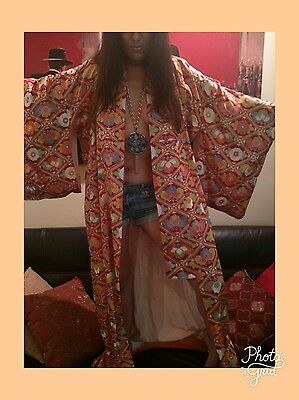 1940s silk kimono in amazing condition vintage robe Japanese Silk Print