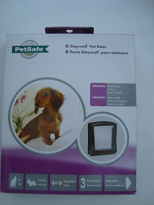 Petsafe Staywell Pet Door Original Small Model 2 - Way Cat Small Dog 730Ef Brown