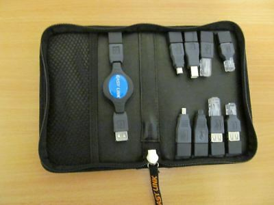 Easy Link USB Connection Set Includes 8 USB Adapters and Retracting Lead