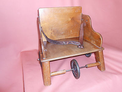 Vintage 'Little Buffer' Model 3 Childs toddlers Mobile Chair 1920's
