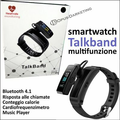 Smart Watch Orologio + Auricolare Bluetooth Android Contapassi Cardio Sleep
