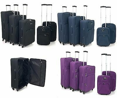 Strong Lightweight 4 Wheel Spinner SuitCase Trolley Travel Luggage Cabin Case