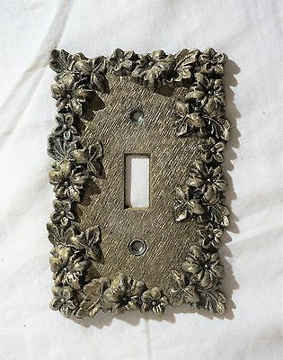 Vintage Ornate Brass Fancy Floral  Light Switch Cover Plate