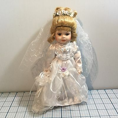 "Porcelain BRIDE WEDDING 11"" Doll - NEW"