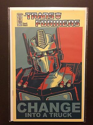 Transformers 2009 #1 Tim Doyle Variant Incentive Change Into a Truck IDW Comic