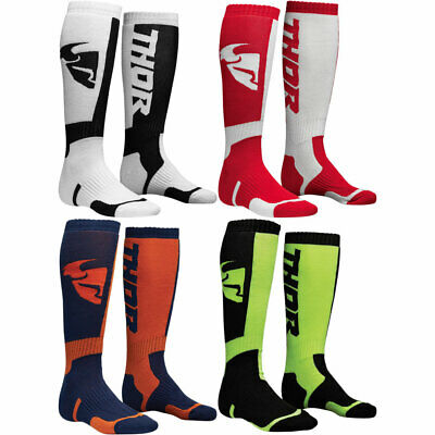 2019 Thor MX Mens Traditional Ribbed MX Offroad Dirt Bike Socks - Size/Color