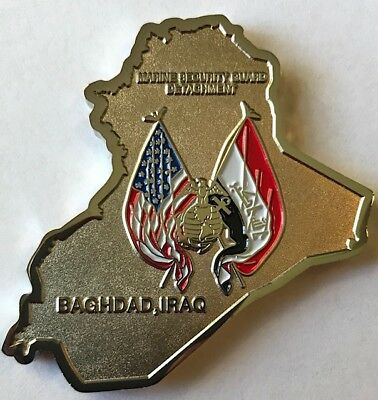 USMC MSG Det Marine Security Guard Detachment Baghdad, Iraq Challenge Coin