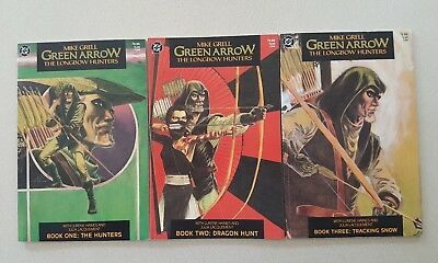Green Arrow: The Longbow Hunters books 1-3 Mike Grell * 3 book lot *