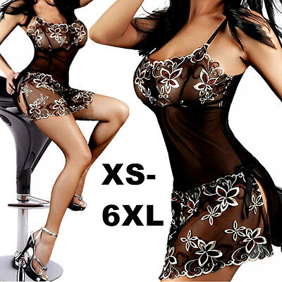 Hot Women's Lace Lingerie Dress Nightwear Underwear Babydoll Sleepwear G-string