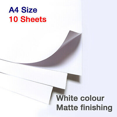 10 x A4 Matte Vinyl Sticky Back Sticker Printable Craft Sheets Silhouette Paper