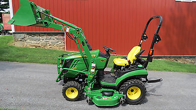2016 John Deere 1025R 4X4 Compact Utility Tractor W/ Loader & Belly Mower 42 Hrs