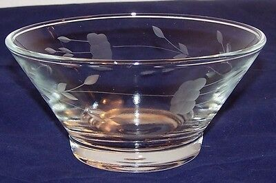 Small Antique Glass Bowl with Floral Design
