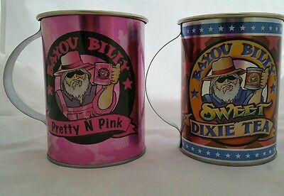 Bayou Billy Set of 2 Tin Cups FREE SHIPPING