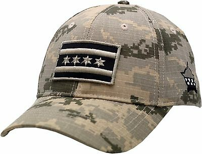 CPD Memorial Chicago Flag Hat Digi Grey Camouflage
