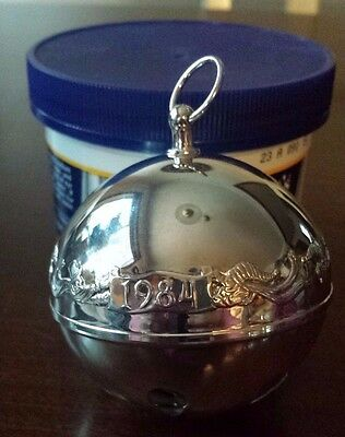 1984  Wallace silver plated sleigh bell. Very nice pre-owned condition.