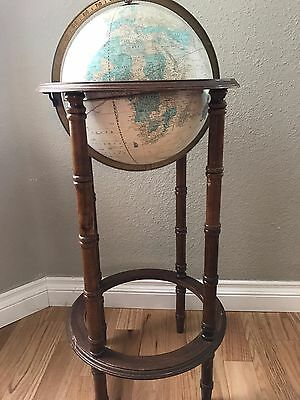 Cram's Imperial World Globe wooden floor stand 1980's, Tall stand, includes USSR