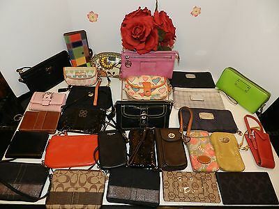 LOT of 28 Wallet COACH  FOSSIL DOONEY&BOURKE  KATE SPADE MICHAEL KORS -GUC