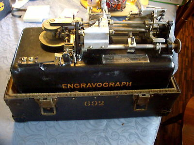 Complete with Carry Case, 1925 Crank Operated Type A Engravograph Serial #1471