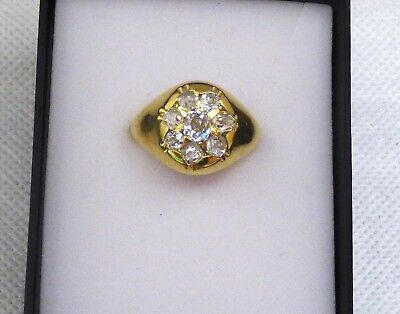 Amazing Mens Vintage H/Made 18Kt Gold 1.83 Carat Diamond Ring Valued $9150