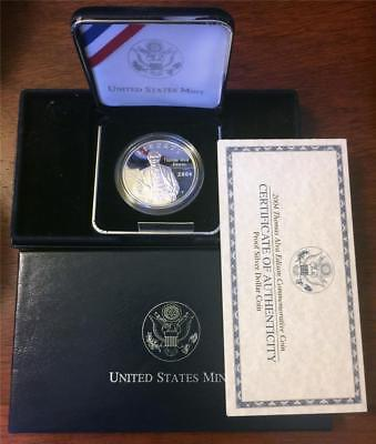 U.S. Mint 2004 Thomas Alva Edison Commemorative Proof Silver Dollar in MINT Box.