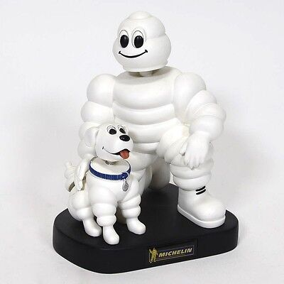 "Michelin Man and his Dog bobblehead, 7"" Resin figure, Promo Item"