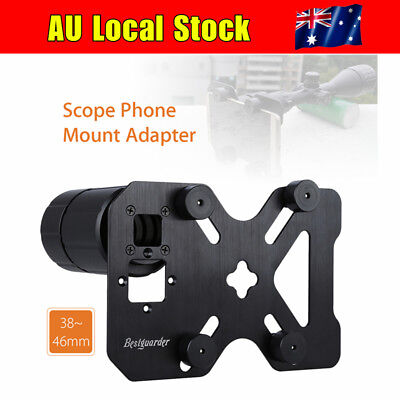 AU Scope Phone Mount Adapter Microscope Binocular Holder 38-46MM Universal Plate
