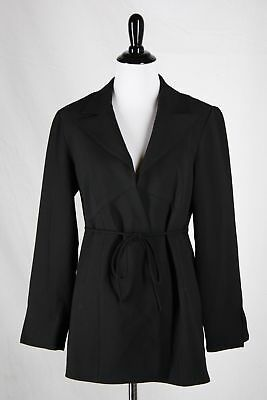 Mimi Maternity Women's S Black Career Blazer Suit Jacket Tie-Back