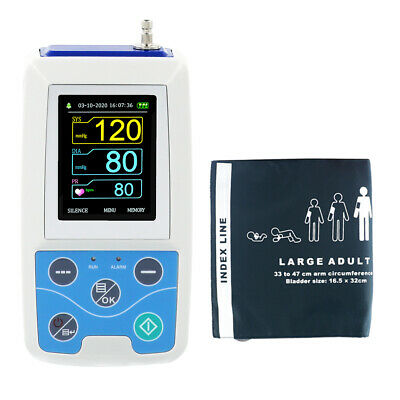 FDA Ambulatory Blood Pressure Monitor, 24h NIBP Holter+Oximeter, PC Software