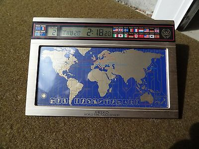 Vintage,seiko,lcd World Time  Clock,1992,barcelona Olympics,commerative..works F
