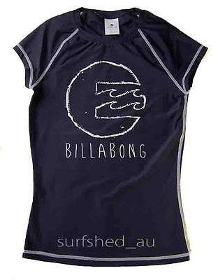 Billabong SURFDAY Womens Rashie Rash Vest Swim Top Shirts - Navy