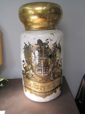 Chemist Species Jar 1871 from London window to identify a Chemist Shop DELIVERED