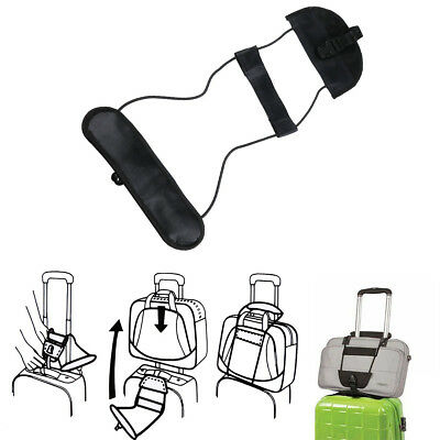 Travel Luggage Suitcase Adjustable Belt Add A Bag Strap Carry On Bungee Travel p