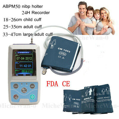 24H Ambulatory Blood Pressure Monitor, NIBP Holter+3 Cuffs+PC Software, CONTEC
