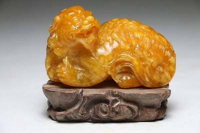 Chinese Tianhuang Stone PIXIU 貔貅 Statue / W 13 × H 11[cm] 0.84kg