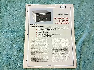 Electronic Research ERC INDUSTRIAL DIGITAL COUNTERS Clock Tachometer CATALOG VTG