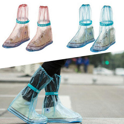 Hot Waterproof Rain Shoes Cover Anti-Slip Shoe Covers Overshoes Reusable Outdoor