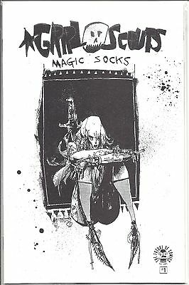 Image Comics 25th - GRRL SCOUTS 1 - B&W Variant Cover Black and White RARE