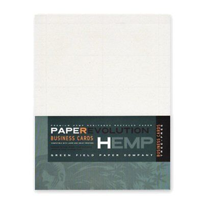 Hemp Heritage Business Cards-100 laser perforated