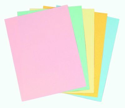 Staples Pastels Colored Copy Paper, Assorted, 8.5 x 11 inch Letter Size, 20lb