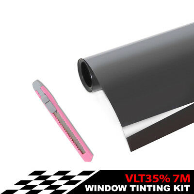 Window Tint Film Roll for Car Home Glass 76cm*7m 35% VLT + tinting tools kit