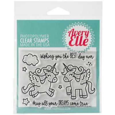 """Avery Elle - Clear Stamps - 4""""x3"""" Pegasus Duo"""