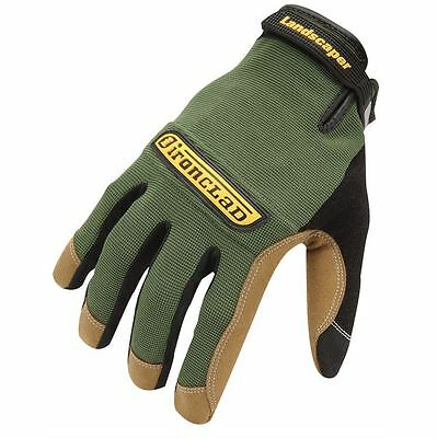 Ironclad Workforce Landscaper Gloves Gardening - Green & Tan - 5 Sizes Available