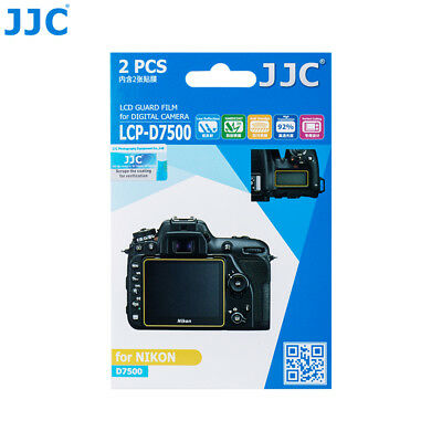 JJC 2PCS LCD Guard  Film Screen Protector Display for NIKON D7500 Digital Camera