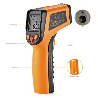 Non Contact Digital Laser Infrared Thermometer with LCD Readout Temperature Gun