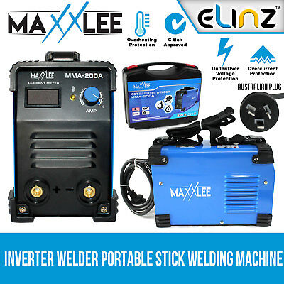 Inverter Welder Welding Machine Portable Stick MMA DC ARC 200A Amp iGBT Maxxlee