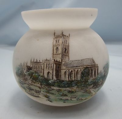 Antique Opalescent Vase Wolverhampton St.peter's Church South Staffs Pre-Ww1*